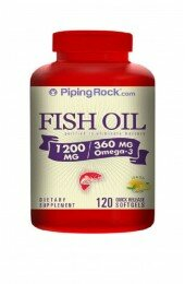 Piping Rock,Omega-3 Fish Oil 1200 mg Lemon Flavor (120 caps)